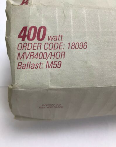 GE 400w E39p Clear Multi-Vapor High Discharge Lamp MVR400//HOR 18096