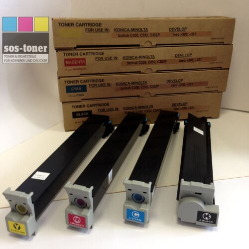 Toner Black Konica-Minolta bizhub C300//352 TN312K Develop ineo 300//351