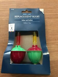 Details About New Christmas Bubble Light Replacement Bulbs Pack Of 2 Red And Yellow
