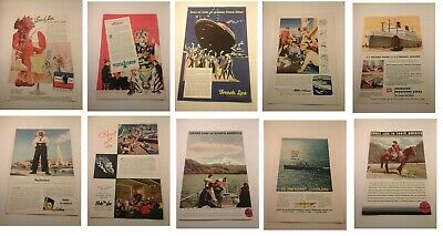 You Choose Online Discount Vtg 1930's-80's Cruise Ship Ads Advertising Cunard Matson Grace Etc Other Collectible Ads Advertising