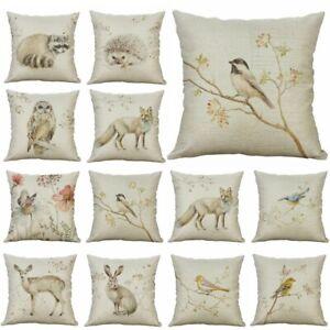 18-039-039-Bird-Pillow-Linen-Tree-Waist-Decor-Animal-Cotton-Home-Cushion-Case-Cover