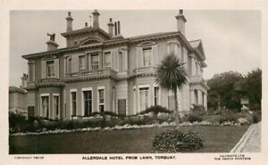 Allerdale-Hotel-Lawn-Torquay-Lillywhite-Devon-UK-1920s-RPPC-Photo-Postcard-5711