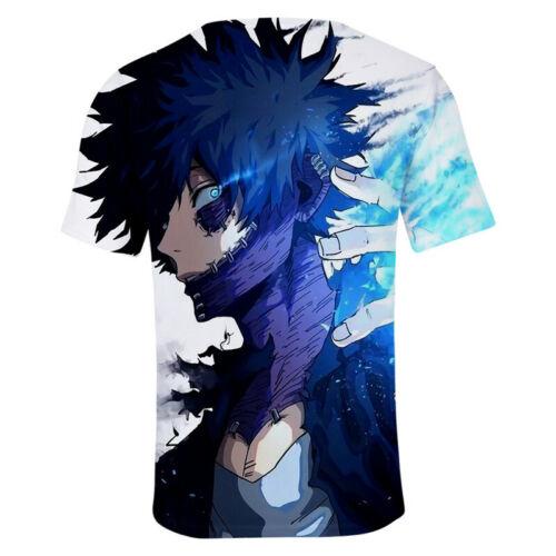Anime My Boku No Hero Academia Cosplay Todoroki Shoto T Shirt Sports Tee Tops