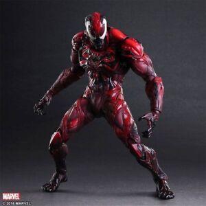 play arts kai marvel venom carnage themed spider man action