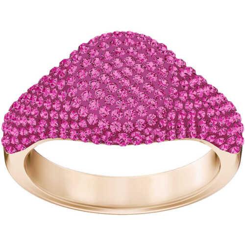 NIB $149 Swarovski Stone Signet Ring Fuchsia Pink Size 55//7//M 58//8//L