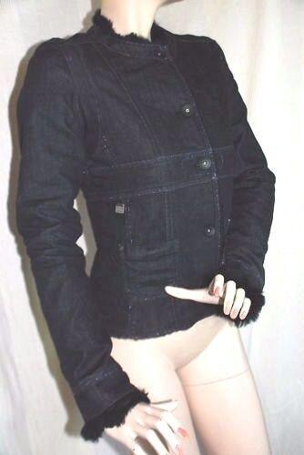NEU   COMPAGNIA ITALIANA WINTER Jeans Jacke Jacke warm gefüttert 36 S neu