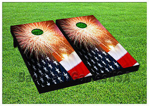 VINYL-WRAPS-Cornhole-Boards-DECALS-USA-FLAG-Bag-Toss-Game-Stickers-811