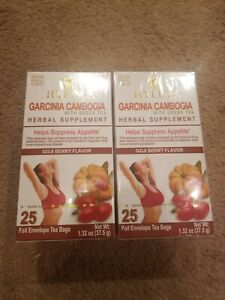2 X Hyleys 100 Natural Garcinia Cambogia Goji Berry Slim Green