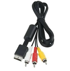 PS1-PS2-Sony-Playstation-1-2-5-x-AV-TV-Lead-Cable-Bundle-Trusted-Ebayer