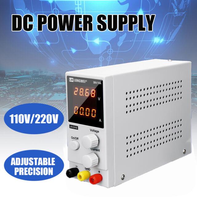 Adjustable 0-30V 0-10A LCD DC Power Supply Precision Variable Digital Lab AUS