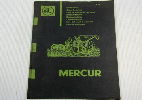 Claas Mercur Mähdrescher Ersatzteil-Bildkatalog Ersatzteilliste 04//1965