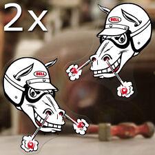 2x Stück Bell Horse Aufkleber Sticker Autocollante Helm Hot Rod Paar 110mm