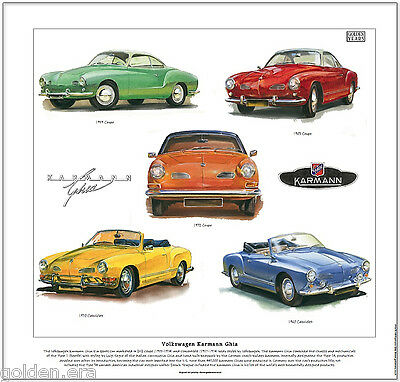 VOLKSWAGEN KARMANN GHIA COUPE Sporty 2-seater Fine Art Print A3 size image