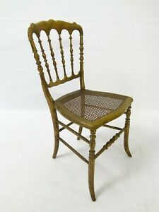 Antique-Victorian-gilt-painted-bedroom-chair-with-cane-seat-2335L