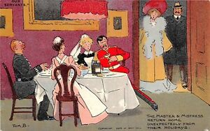 POSTCARD-COMIC-TOM-BROWNE-OUR-SERVANTS-Master-and-Mistress