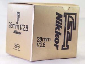 Empty-Box-for-Nikon-28mm-f2-8-Nikkor-F-AI-lens-vintage