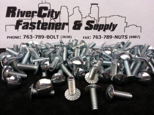 25 1//4-20X3//4 or 1//4x3//4 Serrated Truss head Machine screws zinc plated 25pc