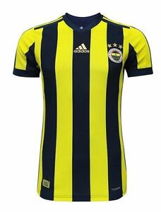 Image is loading FENERBAHCE-JERSEY-2017-2018-OFFICIAL-LICENSED-ADIDAS-HOME-