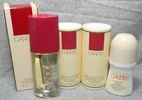 Avon 4pc Lot Candid Cologne Spray Deodorant & Shimmering Body Powders (x4)