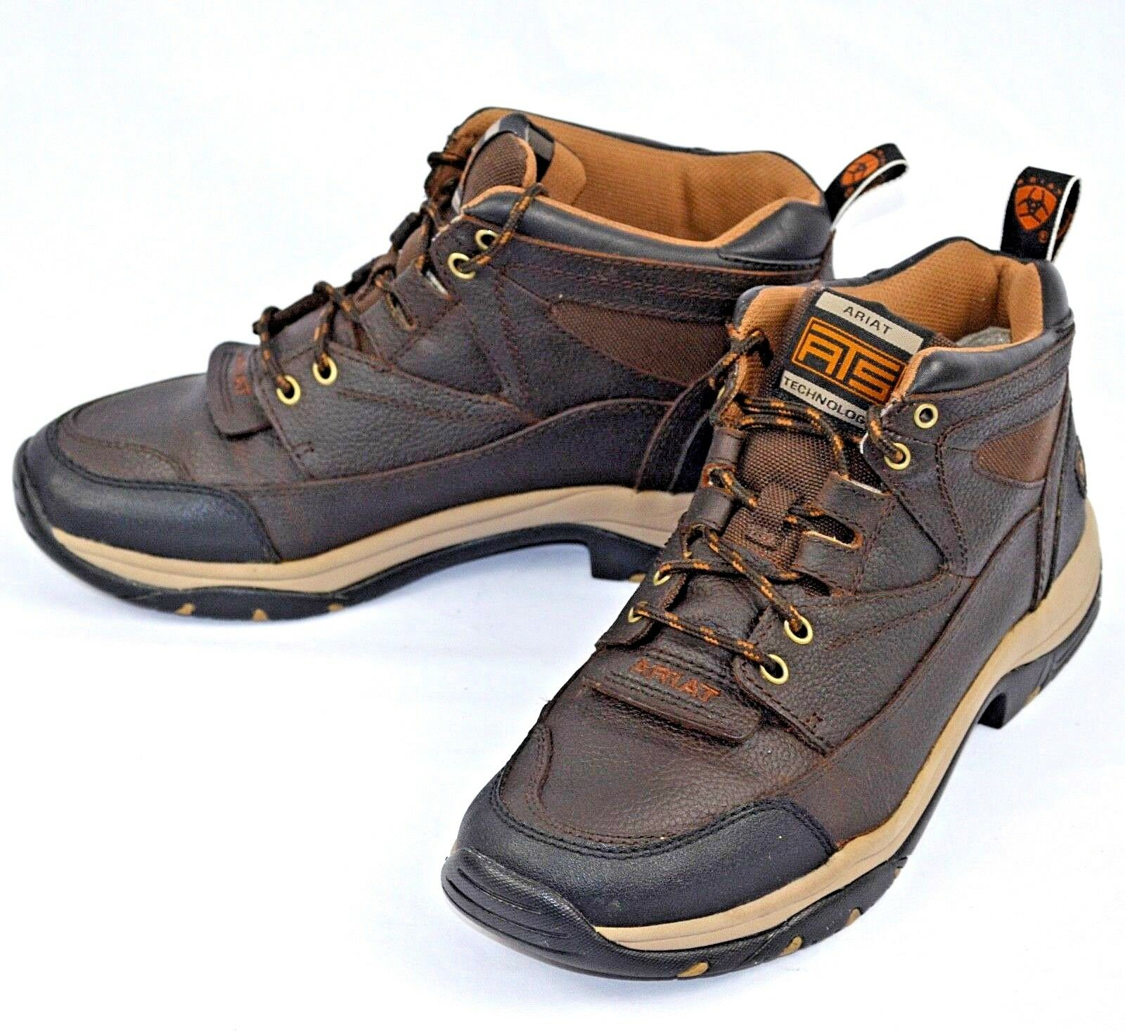 Ariat Uomo Terrain Work Stivali Hiking Stivali Brown Pelle Sz 9D