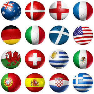 COMPUTER-PC-MOUSEMAT-MOUSE-MAT-PAD-CIRCLE-FOOTBALL-SOCCER-FLAG-BALL-VARIOUS