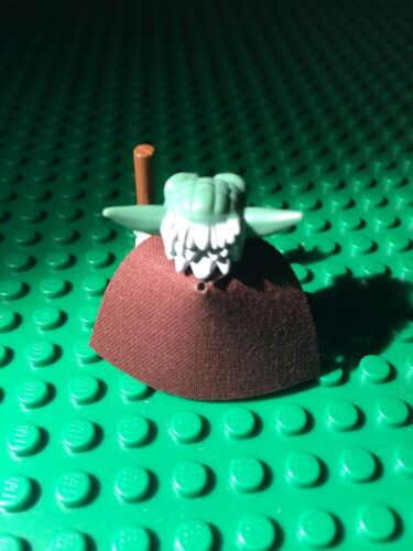CAPE ONLY NO MINIFIG 1 custom cape made to fit  YODA Star Wars Lego Minifigure