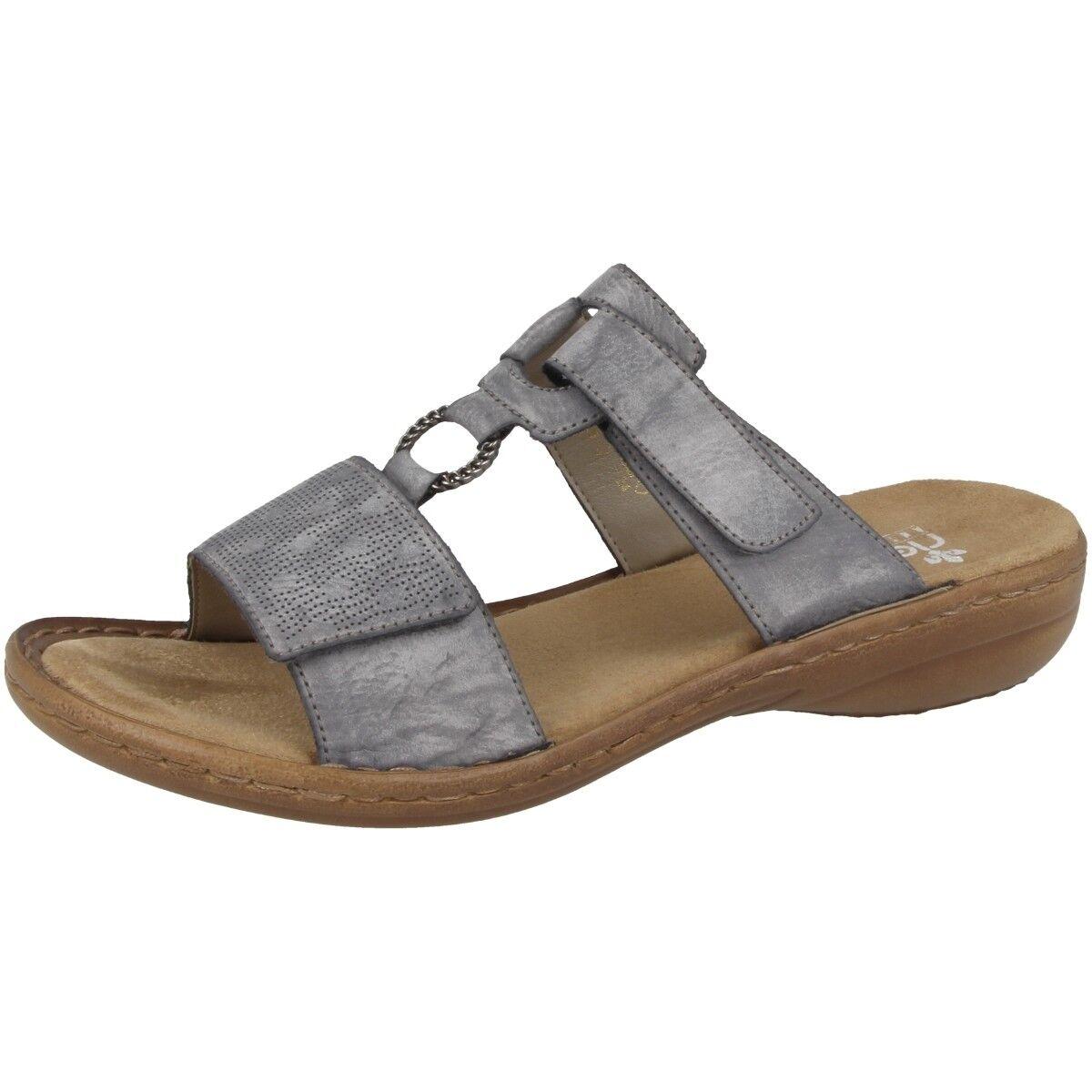 Rieker Eagle chaussures femmes Mules Sandals Leisure Slippers bleu 60885-12