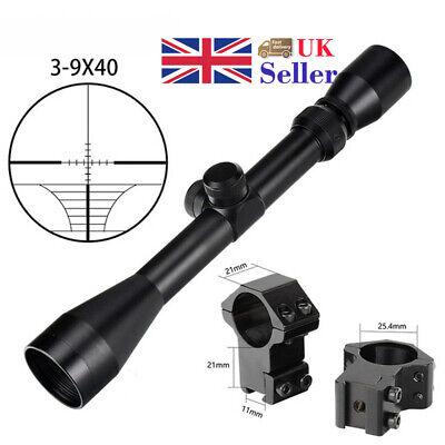 Airsoft sniper 3-9x40 Rifle scope with 11mm Weaver mounts Airgun riflescope UK