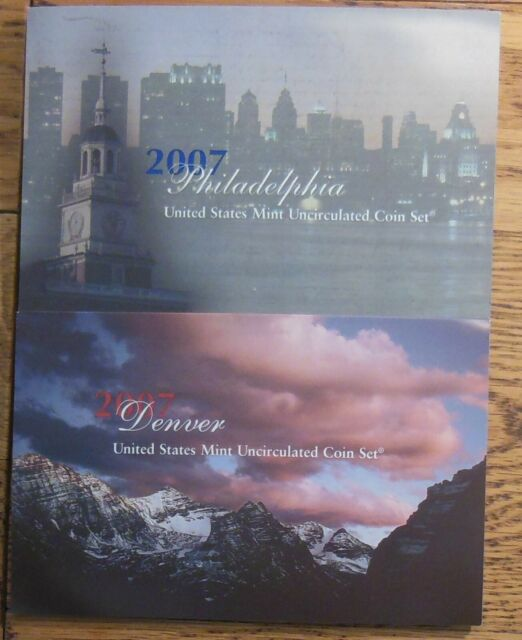 2007 United States Mint Uncirculated Coin Set - Philadelphia & Denver