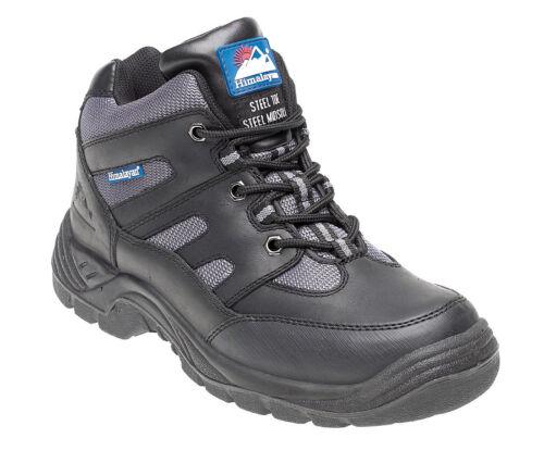 Himalayan 4000 S1P SRA en cuir noir steel toe cap safety bottes cross trainers