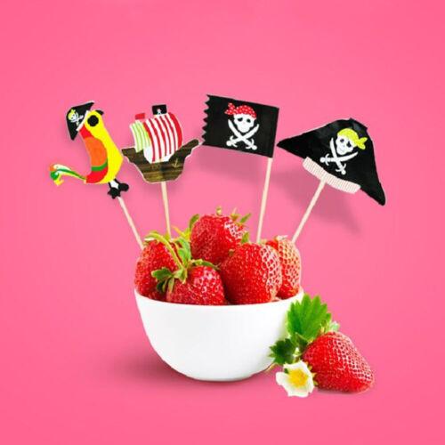 Dessert Topper Pirate Theme Unique Design Cake Insert Card For Party Decor 20pcs