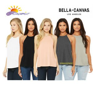 e289762c69d1d4 Bella + Canvas - Women s Flowy High Neck Tank - 8809 New for 2018