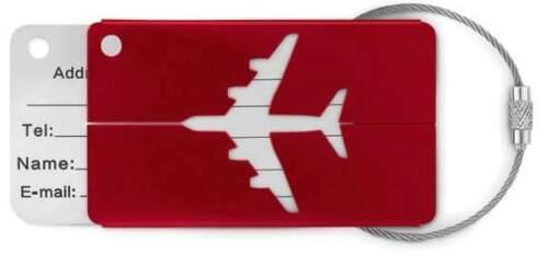 2 valise Remorque//badges avion avec dissimulée champ d/'adresse-Neuf