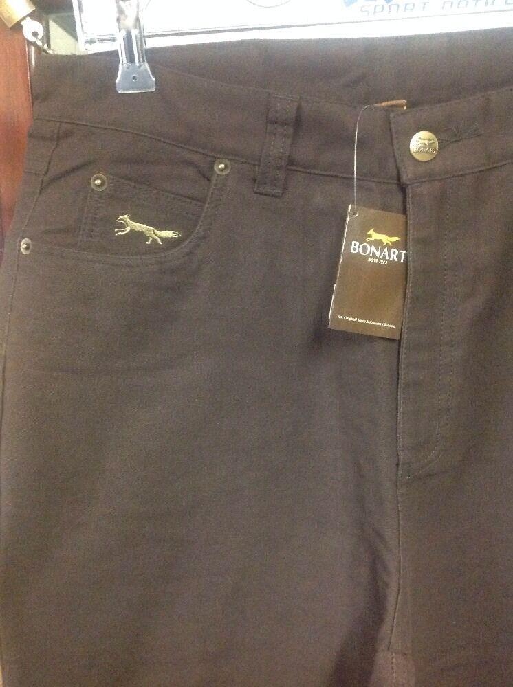 Homme Sergé Coton Brossé Sergé Homme jean pantalon brown rrp £ 75 taille 32