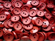 Small 11mm 18L Russet Red Orange Tinged Red Polished Shank Buttons Button Q362