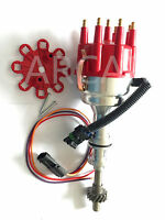 Ford 302 351c Cleveland Early 460 Race Pro Billet Aluminum Distributor - Red Fd