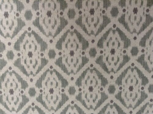 """French Petite Ikat Linen Olive  Grey//Oatmeal 280cm//108/"""" wide Curtain Fabric"""