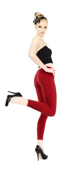 100% De Qualité New Womens Girls Opaque Elastic Seamless Leggings Pants 180 Denier Uk Size S M L Correspondant En Couleur