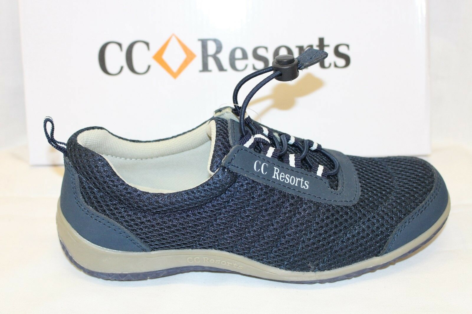 LADIES SHOES FOOTWEAR - CC Resorts Sandra lace shoe navy