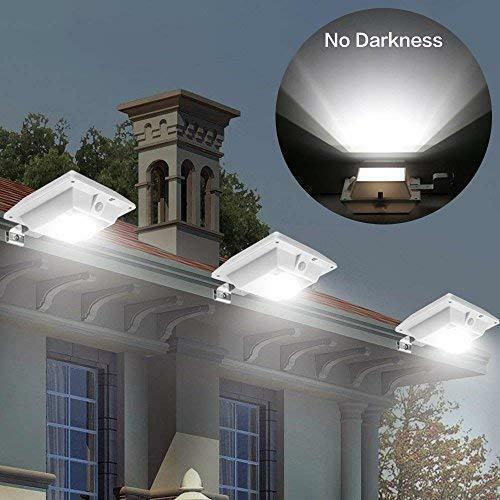 Focos Solares Exterior Led de Jardin Patio Sensor de Movimiento Impermeable 120°
