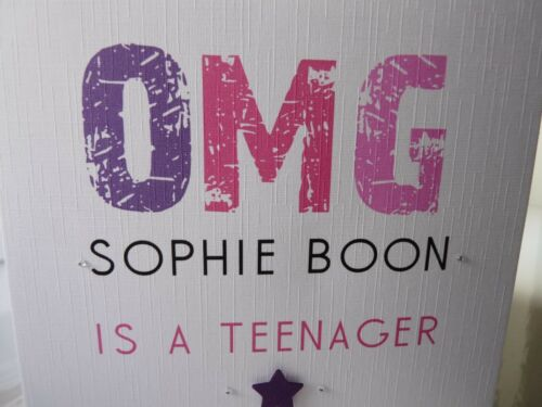 Handmade Personalised OMG Is A Teenager Card Girls Boys Female Male 13th ANY AGE