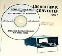 Hewlett Packard Hp 7562a Logarithmic Converter, Manual, Operating & Service