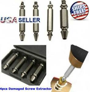 4pc-Broken-Bolt-Remover-Screw-Extractor-Easy-Out-Drill-Bits-Stud-Reverse-Damage