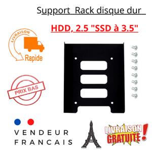 """Support Rack dev montage  Adaptateur Métal pour Disque Dur 2.5""""  SSD ou HDD 3.5"""""""