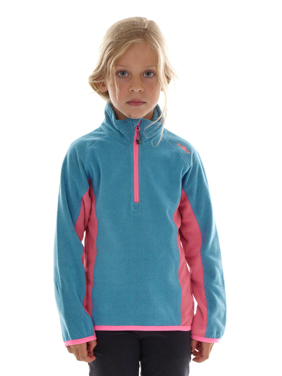 CMP Fleece Pul r Functional  Sweater Kragenpul r blue Pattern Gridtech  classic fashion