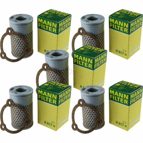 5x MANN-FILTER Hydraulikfilter für Automatikgetriebe H 617 n