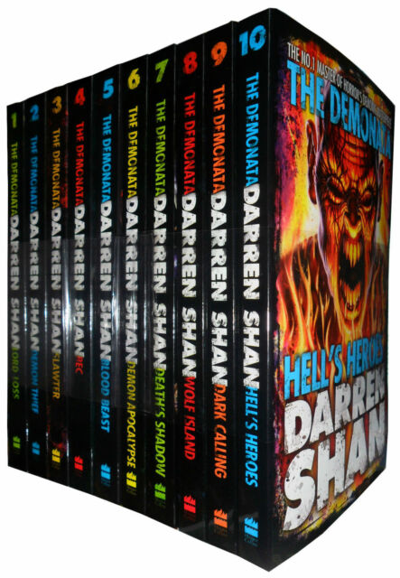 Darren Shan The Demonata  10 Books Collection Pack Set-Hells Heroes, Dark callin