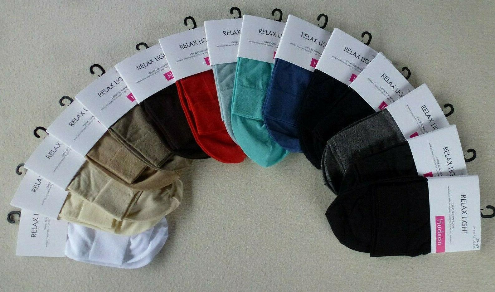 HUDSON Damen RELAX LIGHT Socken Komfortbund ohne Gummifäden 60% CO 35-38 39-42