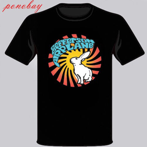 New Jefferson Airplane Rock Band Legend Men/'s Black T-Shirt Size S to 3XL
