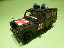 POLISTIL S49 LAND ROVER - MILITARY AMBULANCE  - ARMY GREEN 1:25? - GOOD